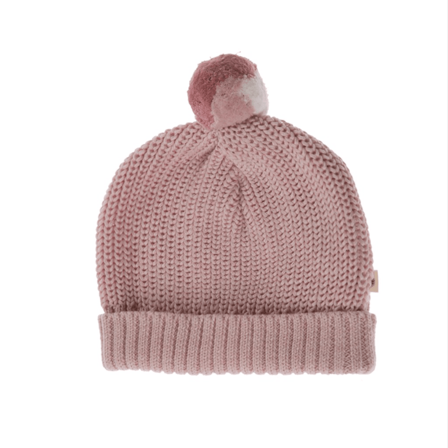 Jujo Baby Knitted Beanie - Blush Pink - Tiny People Cool Kids Clothes Byron Bay