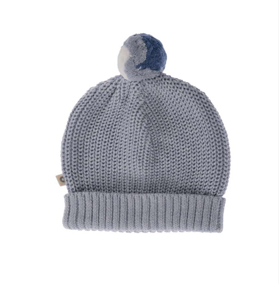 Jujo Baby Knitted Beanie - Pale Blue - Tiny People Cool Kids Clothes Byron Bay