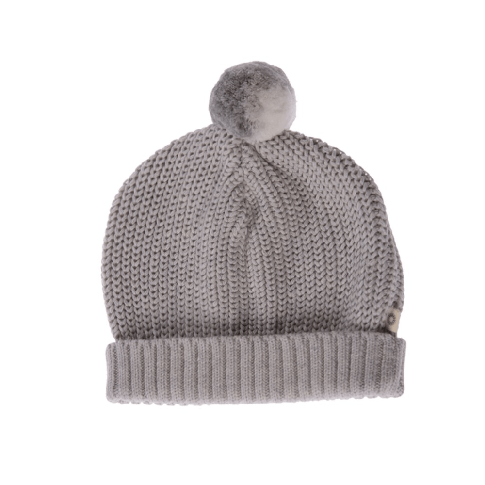Jujo Baby Knitted Beanie - Silver - Tiny People Cool Kids Clothes Byron Bay