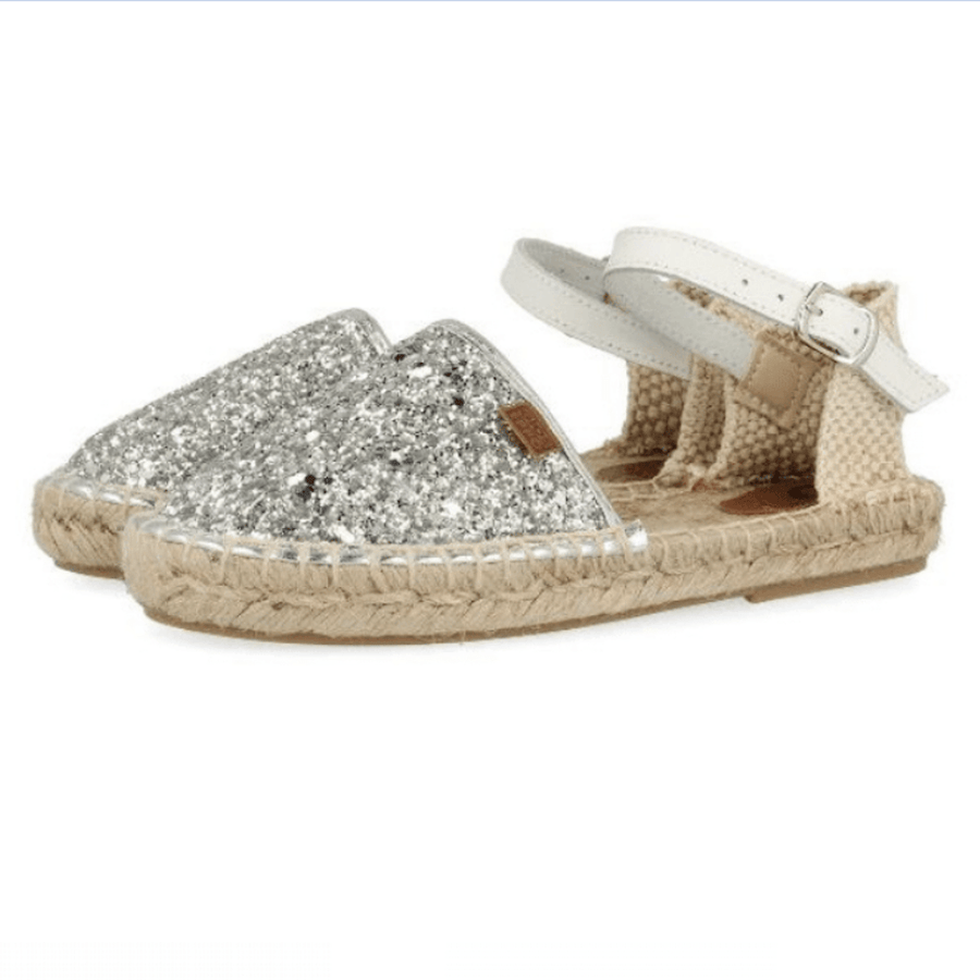 Gioseppo Fanzara Espadrille Silver - Tiny People Cool Kids Clothes Byron Bay