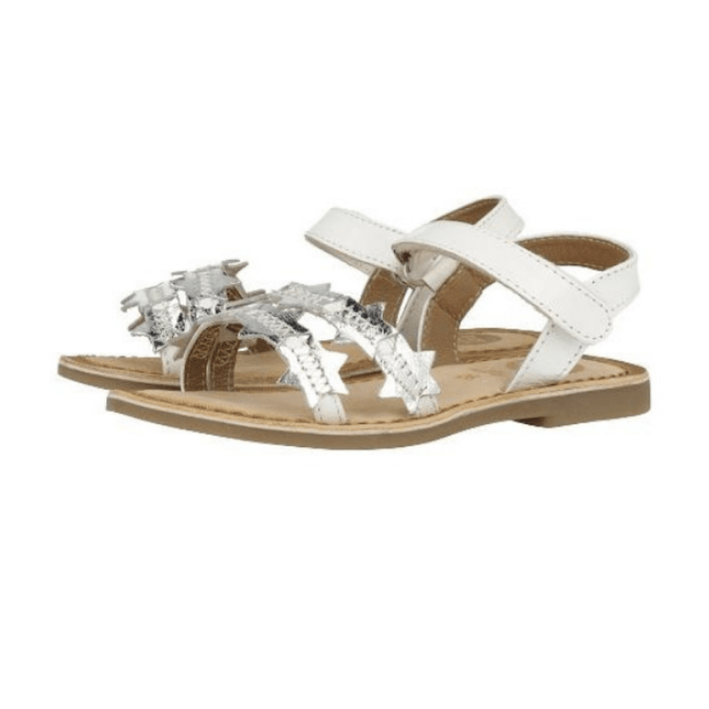 Gioseppo Asteroide Sandal White Silver Sandals - Tiny People Cool Kids Clothes