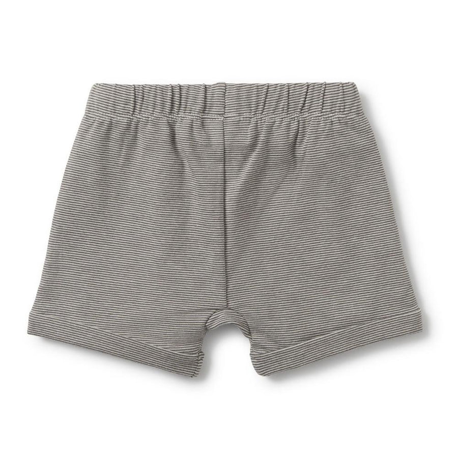 Charcoal Slouch Pocket Shorts