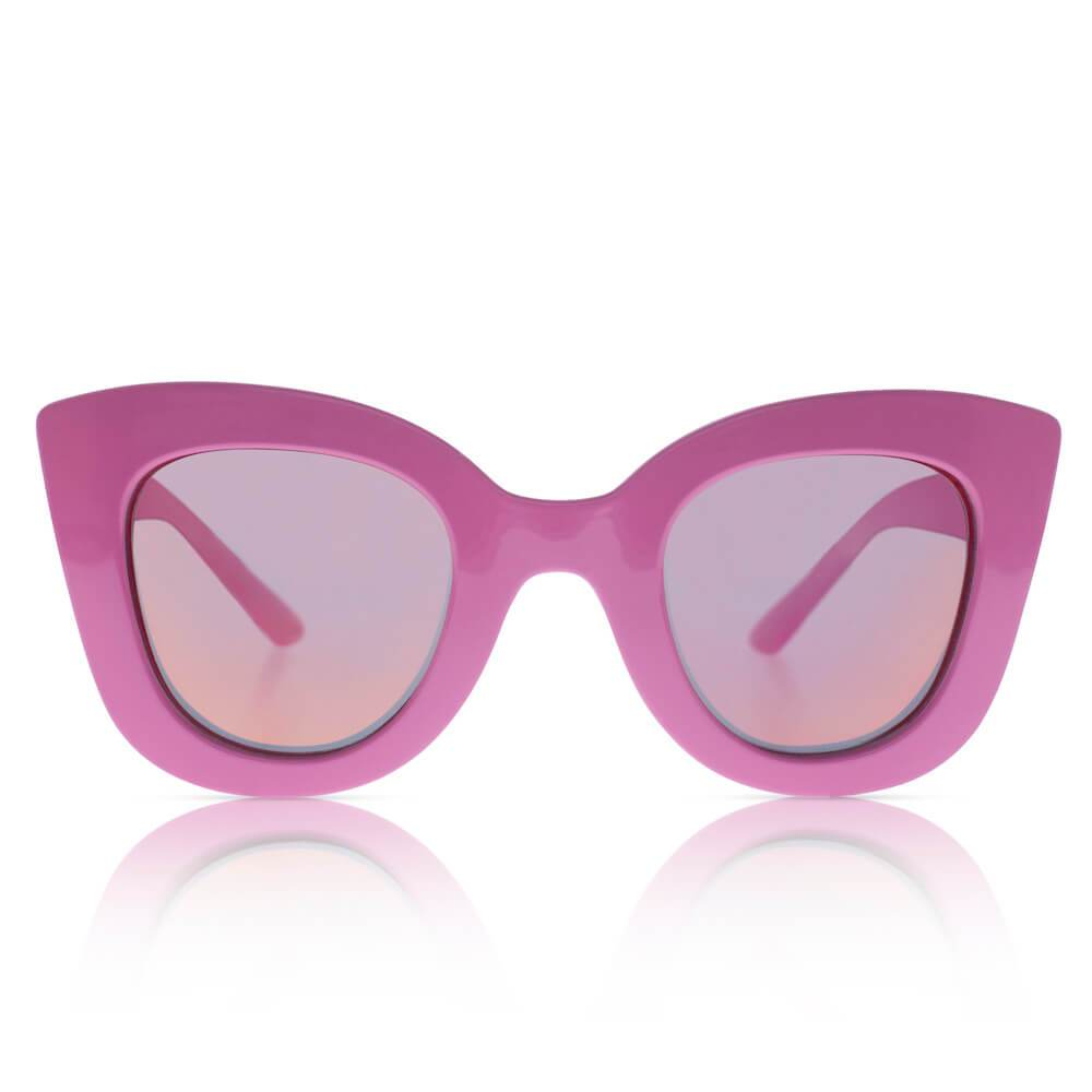 Sons + Daughters Eyewear Cat Cat (Hot Pink w/ Mirror) Sunglasses - Tiny People Cool Kids Clothes