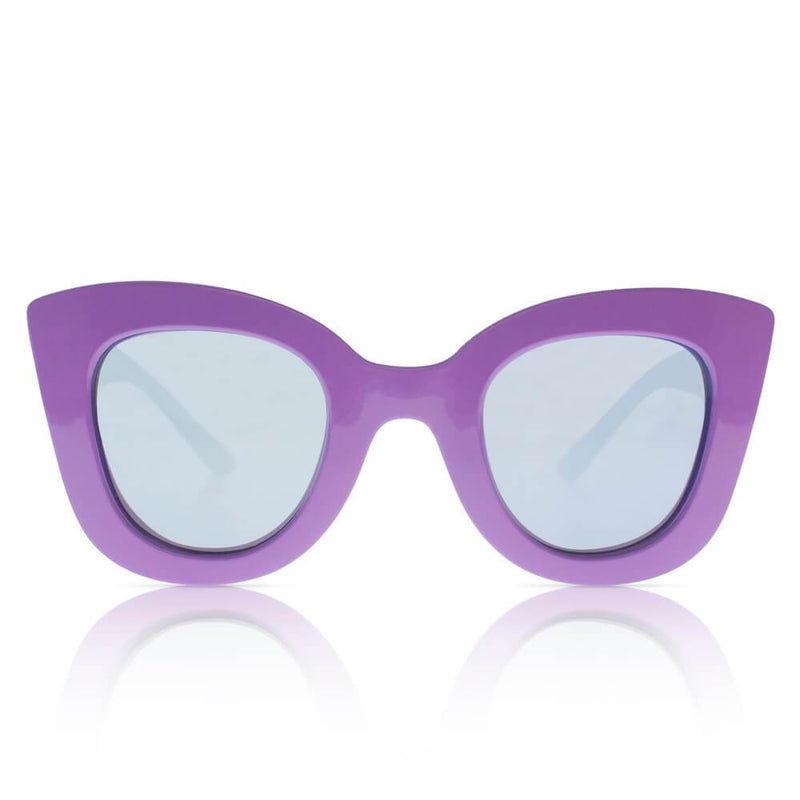 Sons + Daughters Eyewear Cat Cat (Syrup Purple w/ Mirror) Sunglasses - Tiny People Cool Kids Clothes