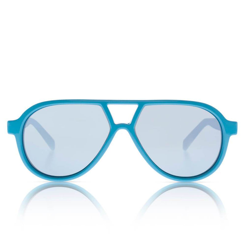 Sons + Daughters Eyewear Rocky II (Cyan Blue w/ Mirror) Sunglasses - Tiny People Cool Kids Clothes