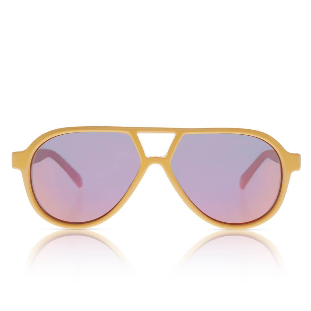 Sons + Daughters Eyewear Rocky II (Schoolbus Yellow w/ Mirror) Sunglasses - Tiny People Cool Kids Clothes
