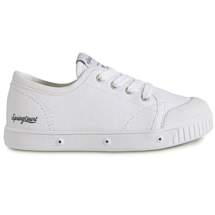 Spring Court Classic Canvas Trainer White - Tiny People Cool Kids Clothes Byron Bay