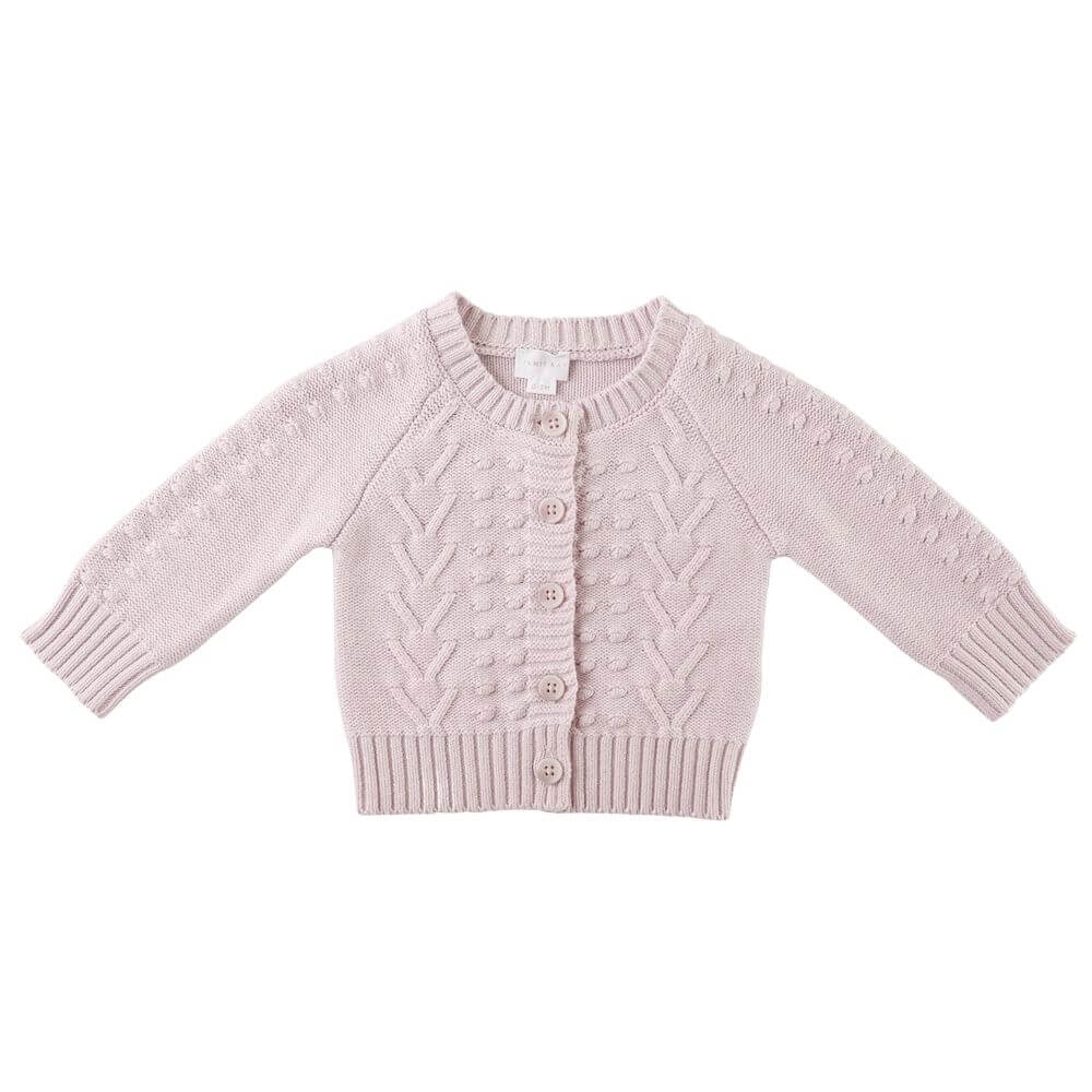 Jamie Kay Cable Cardigan Dewberry Marle | Tiny People Australia Online