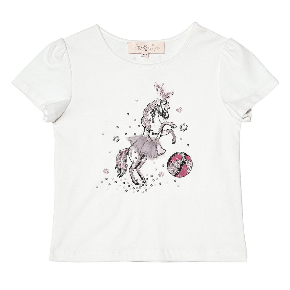 Tutu Du Monde Carousel Tee Girls Tops & Tees - Tiny People Cool Kids Clothes