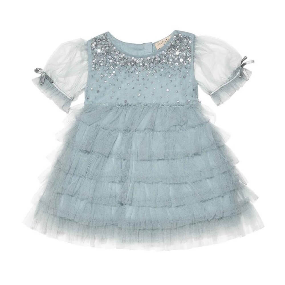 Tutu Du Monde Bebe Bijou Tulle Dress Seafoam | Tiny People
