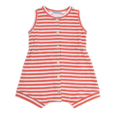 Tony Terry Stripe Romper Red