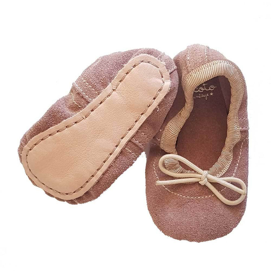 Tocoto Vintage Baby Ballerina Shoes Pink - Tiny People Cool Kids Clothes Byron Bay
