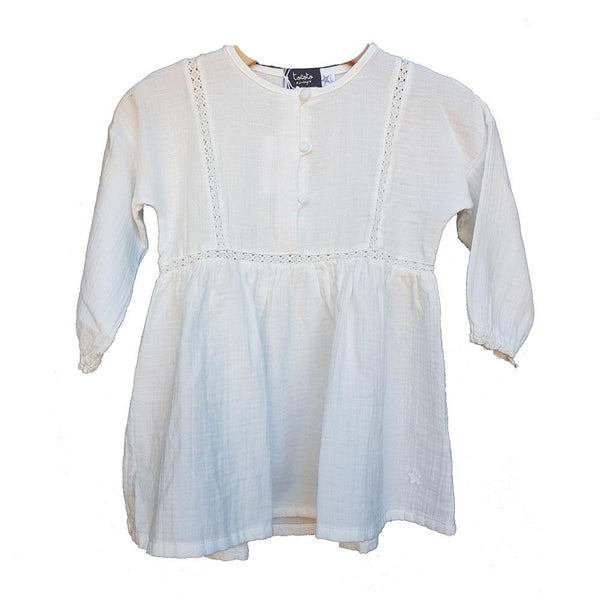 Tocoto Vintage Lace Dress Ecru - Tiny People Cool Kids Clothes Byron Bay