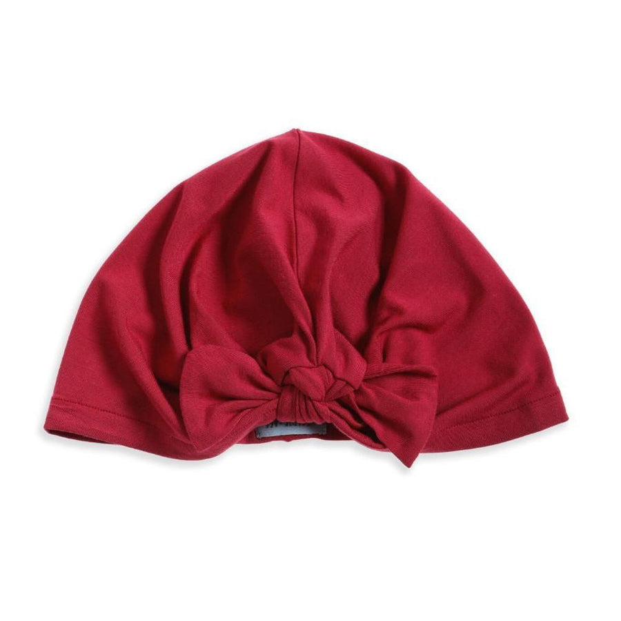 Tiny People Tie Front Turban - Rhubarb - Tiny People Cool Kids Clothes Byron Bay