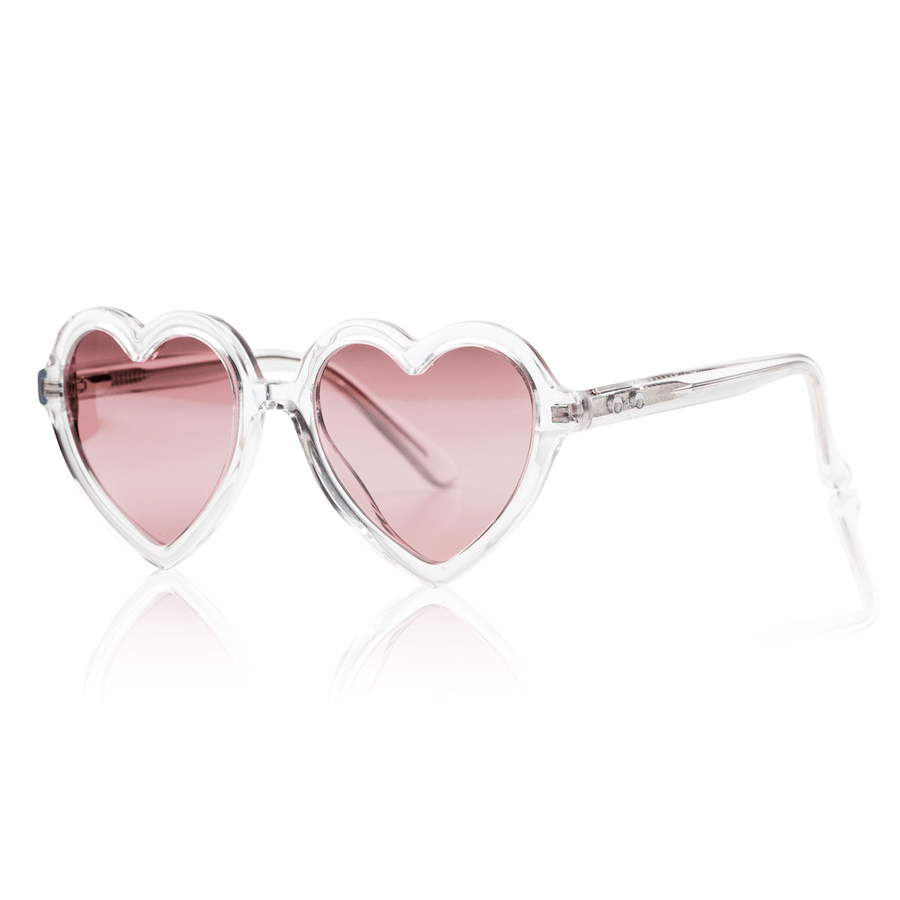 Sons + Daughters Lola heart sunglasses in Clear at Tiny People Shop Australia.