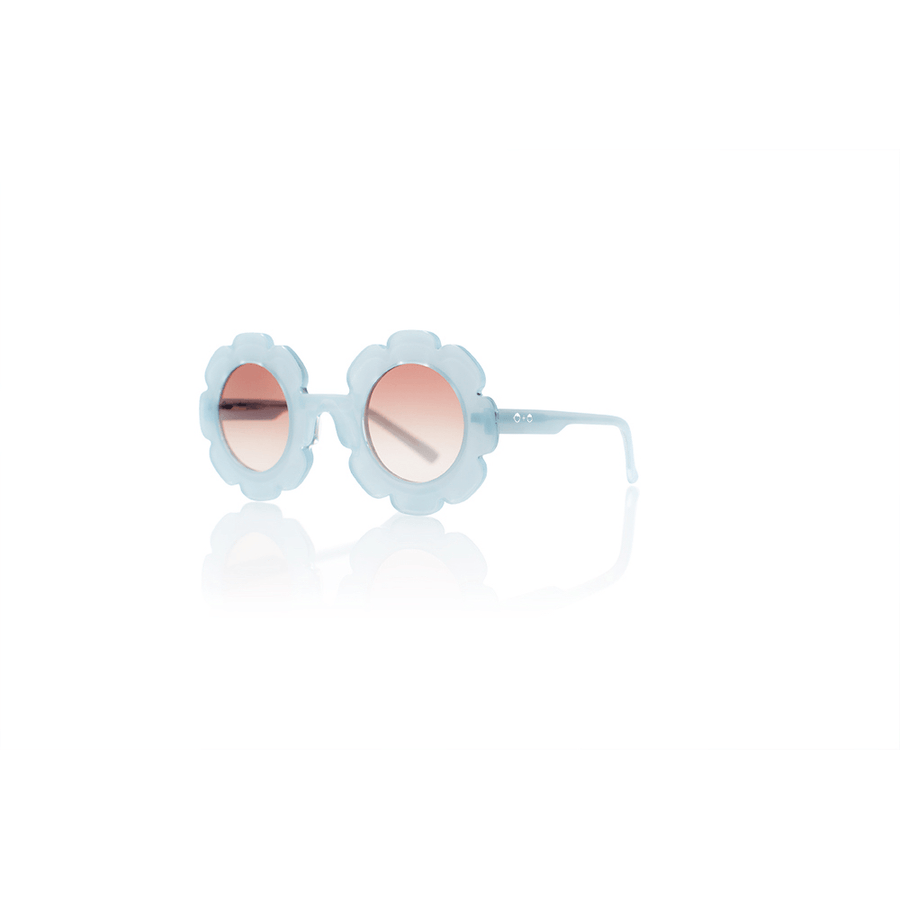 Sons + Daughters Pixie Flower sunglasses in Jelly Bean Blue at Tiny People Shop Australia.