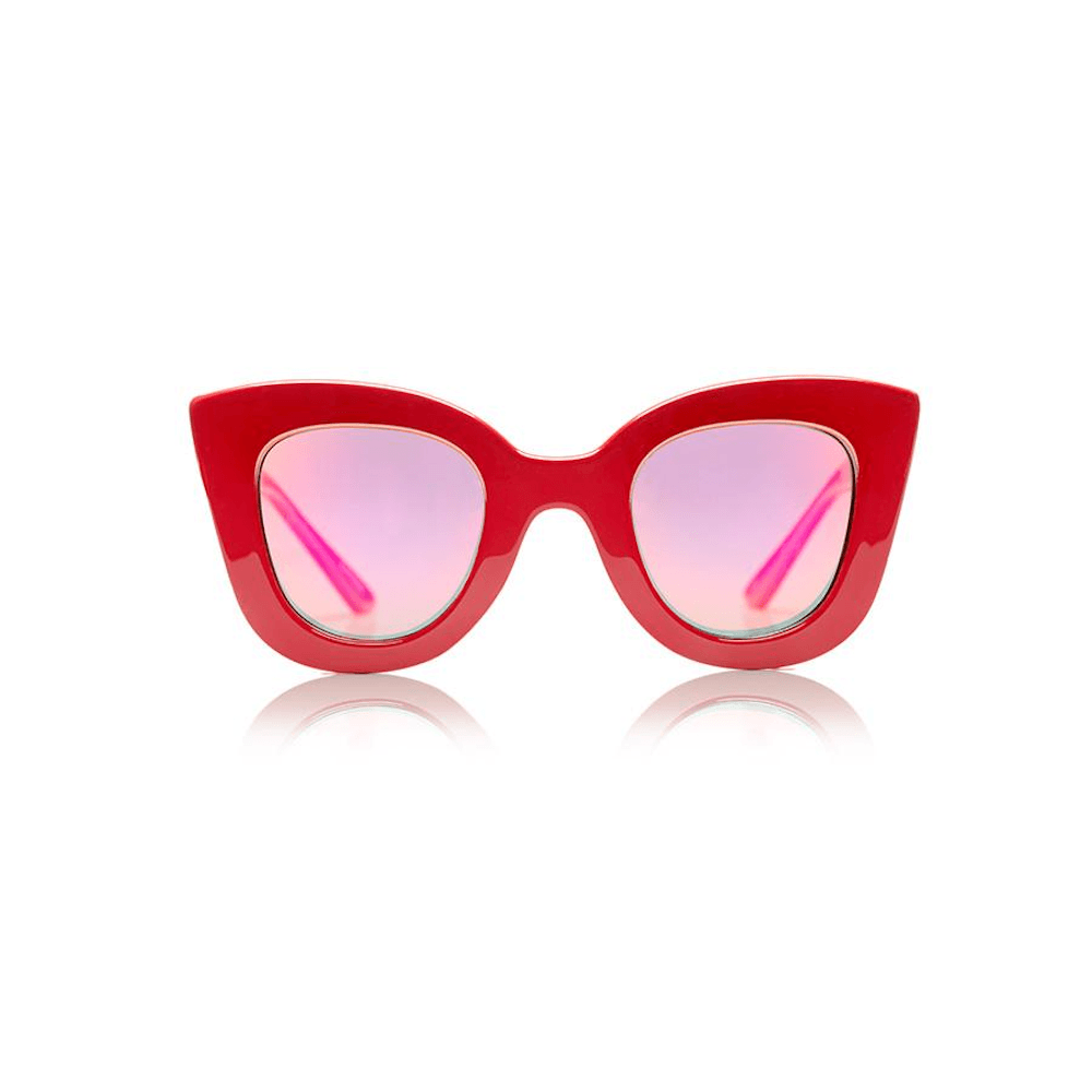 Sons + Daughters Eyewear Cat Cat (Red) Sunglasses - Tiny People Cool Kids Clothes