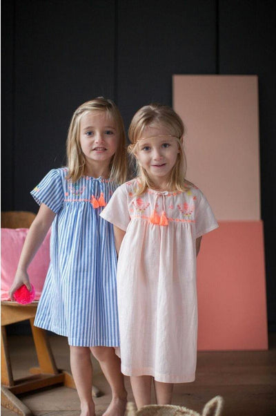Bonheur Du Jour Flavie Dress Stripes - Tiny People Cool Kids Clothes Byron Bay