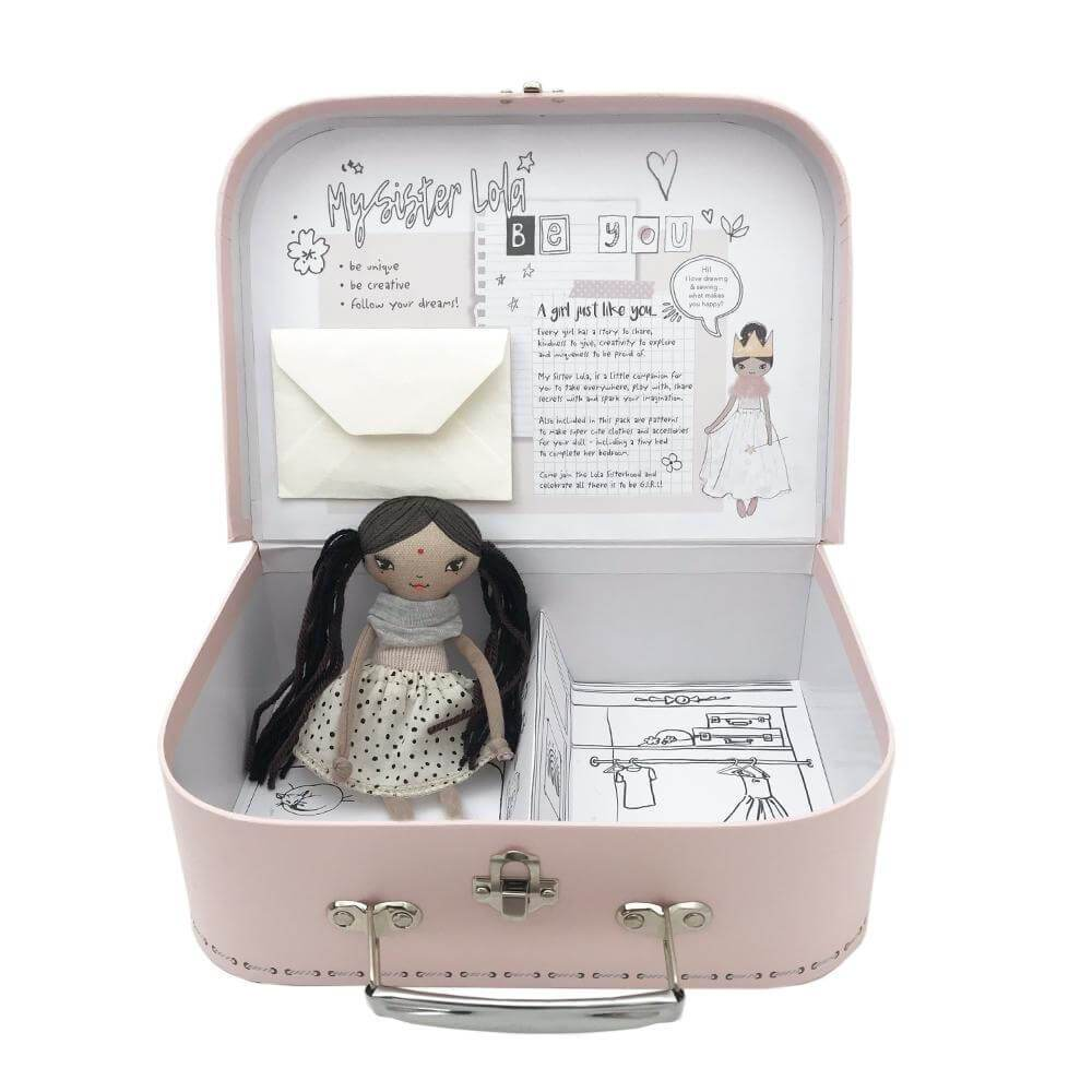 These Little Treasures Miss Creative Activity Suitcase Blush | Tiny People
