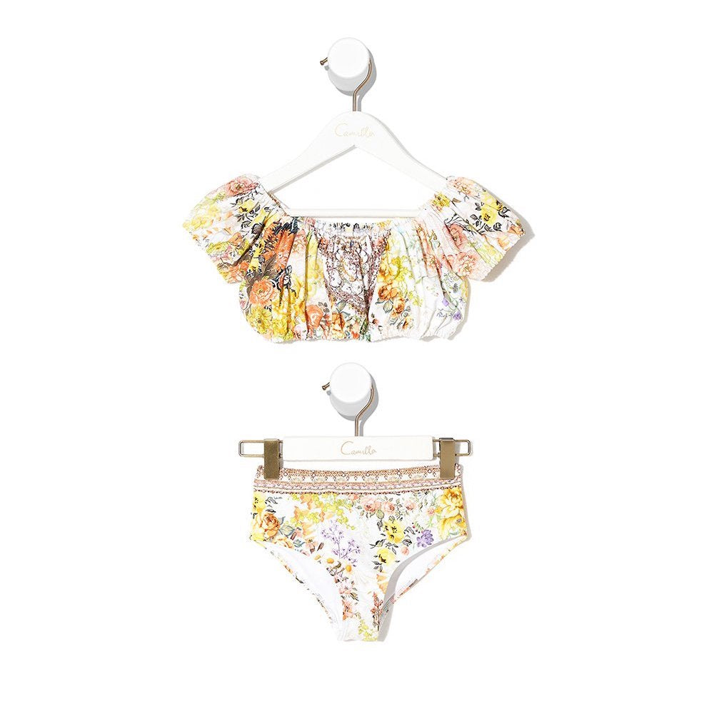 Camilla In The Hills of Tuscany Puff Sleeve Bikini | Tiny People