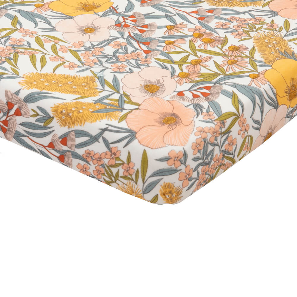 Golden & Ace Vintage Floral Fitted Cot Sheet | Tiny People