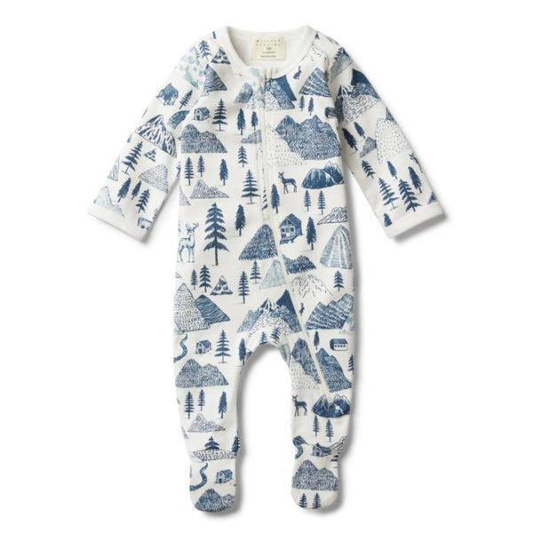 Wilson and Frenchy The Hills Zip Suit With Feet - Tiny People Cool Kids Clothes Byron Bay