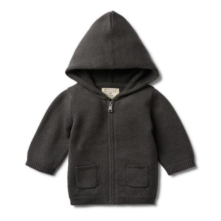 Wilson and Frenchy Knitted Zip Through Jacket - Dark Moon - Tiny People Cool Kids Clothes Byron Bay