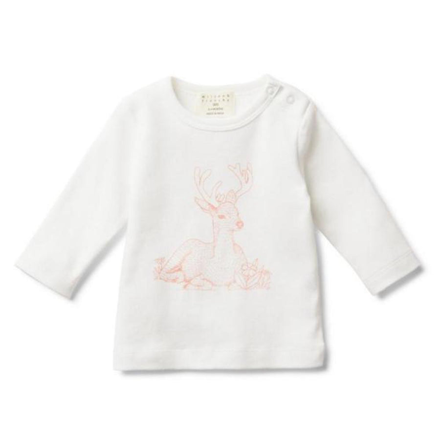 Wilson and Frenchy Little Dear Long Sleeve Top - Tiny People Cool Kids Clothes Byron Bay
