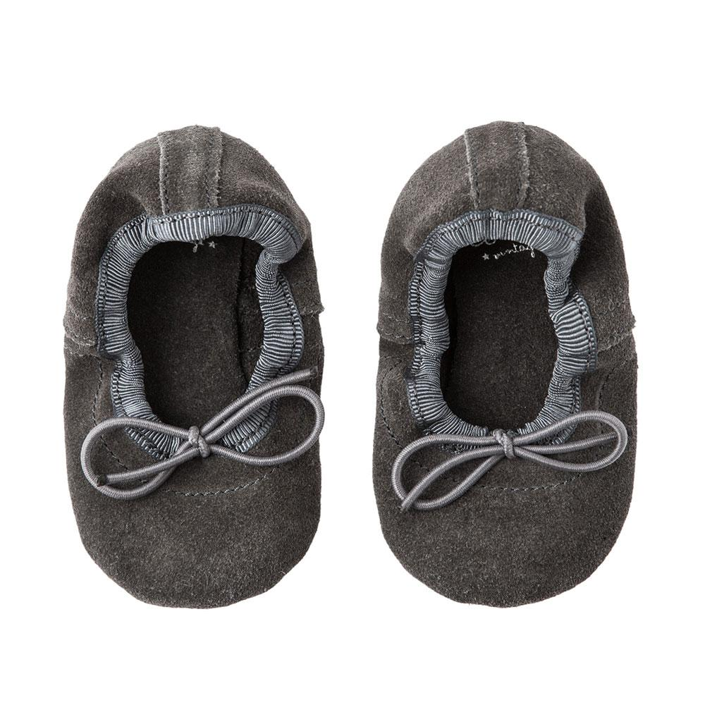 Tocoto Vintage Baby Ballerina Shoes Grey Footwear - Tiny People Cool Kids Clothes