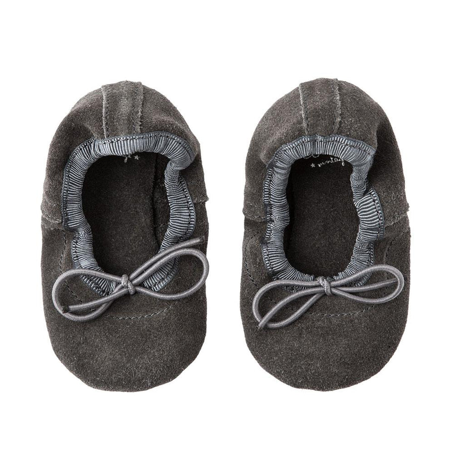 Tocoto Vintage Baby Ballerina Shoes Grey - Tiny People Cool Kids Clothes Byron Bay