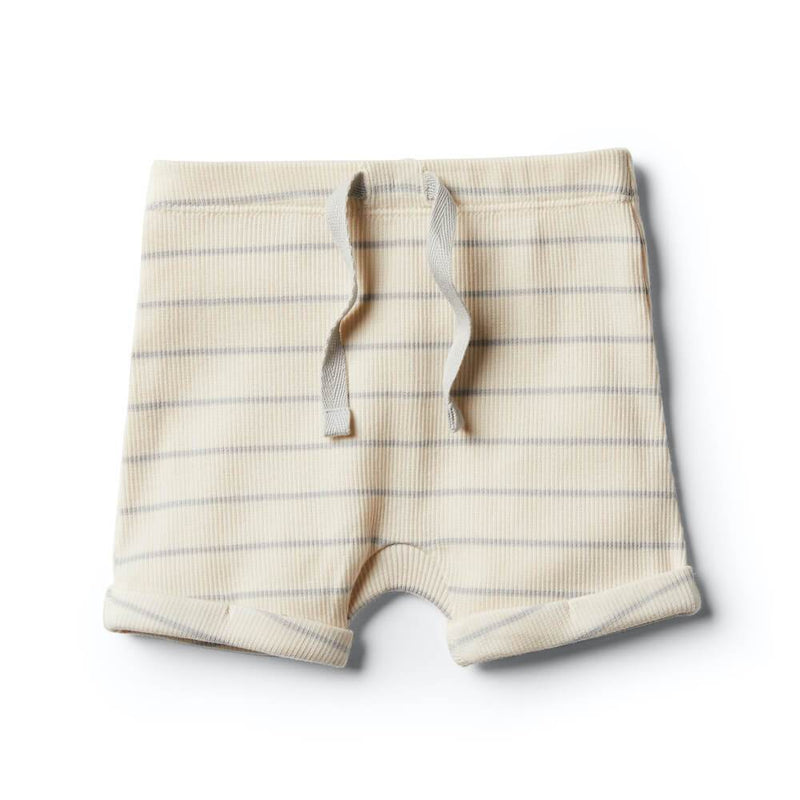 Wilson and Frenchy Glacier Grey Stripe Shorts Bottoms - Tiny People Cool Kids Clothes
