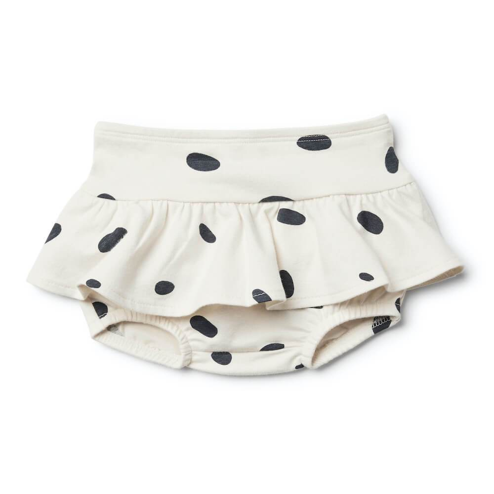 Speckled Spots Nappy Pant with Ruffle