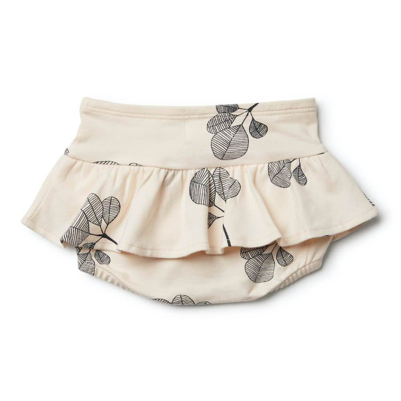 Fan Leaf Nappy Pant with Ruffle