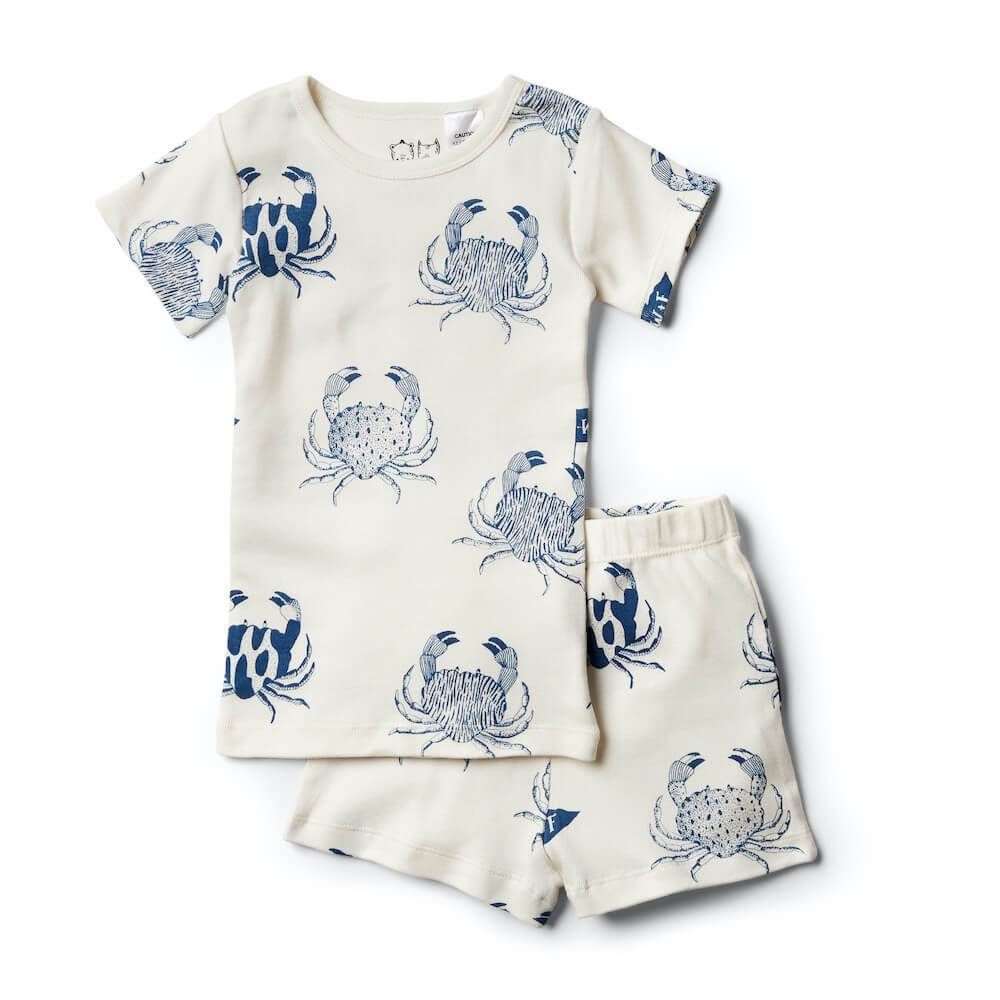 Organic Monsieur Crab Short Sleeve Pyjama Set