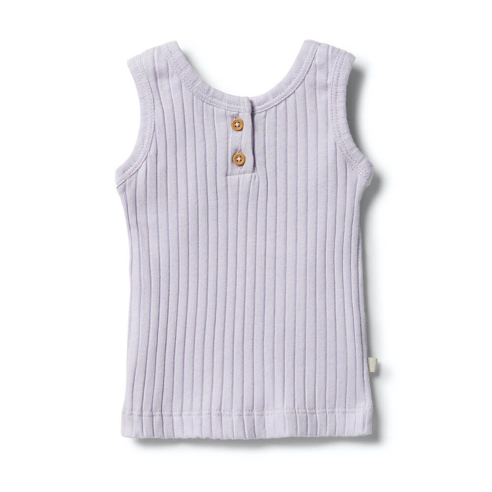 Wilson & Frenchy Organic Tank Lavender | Tiny People