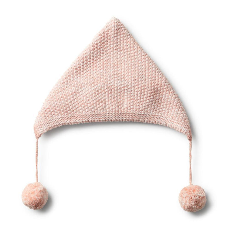 Knitted Bonnet Strawberry & Cream