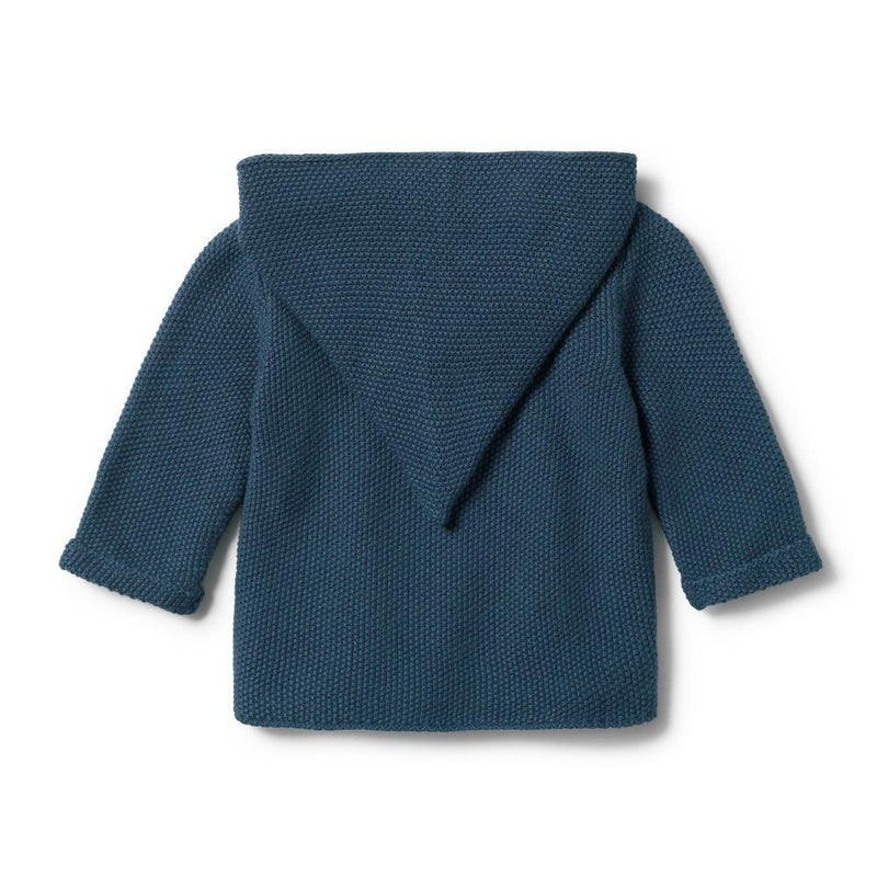 Knitted Jacket Steel Blue