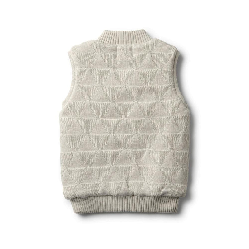 Hi Lo Knitted Vest Ice Grey