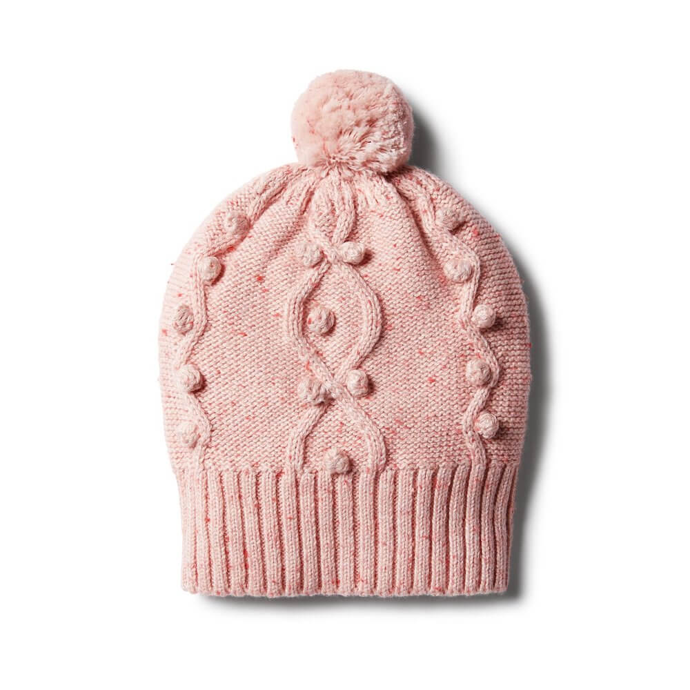Wilson & Frenchy Chilli Fleck Knitted Hat with Baubles | Tiny People