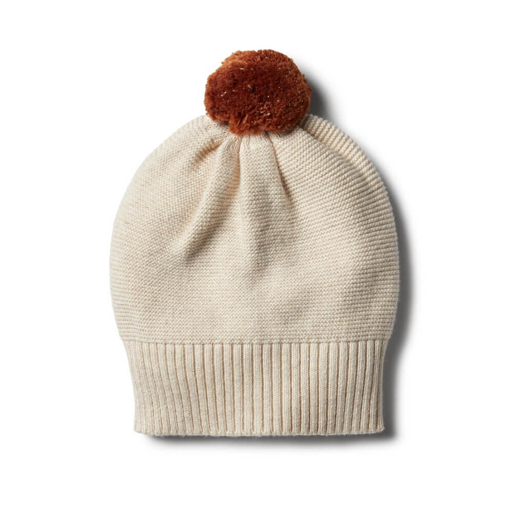 Wilson & Frenchy Oatmeal Knitted Hat | Tiny People