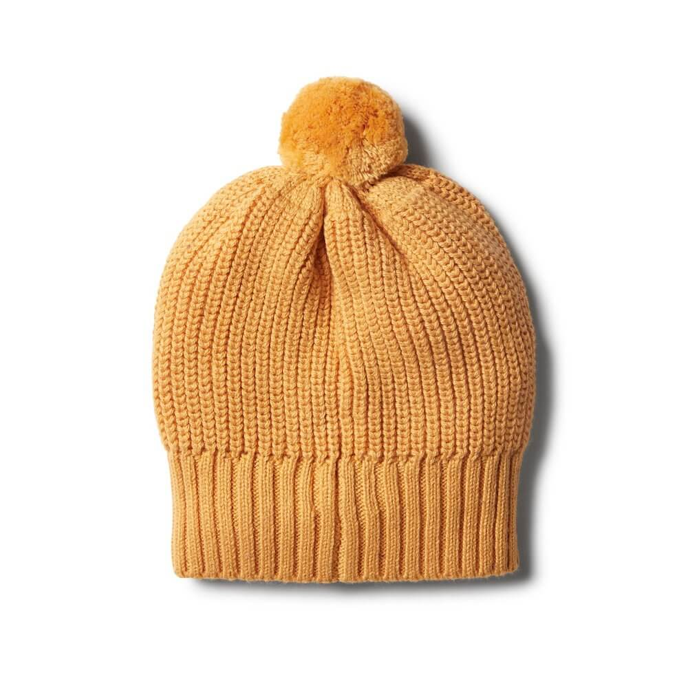 Wilson & Frenchy Golden Apricot Knitted Spot Hat | Tiny People