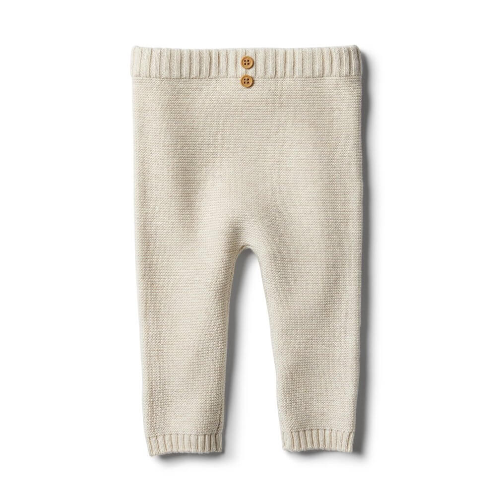 Wilson & Frenchy Oatmeal Knitted Leggings | Tiny People
