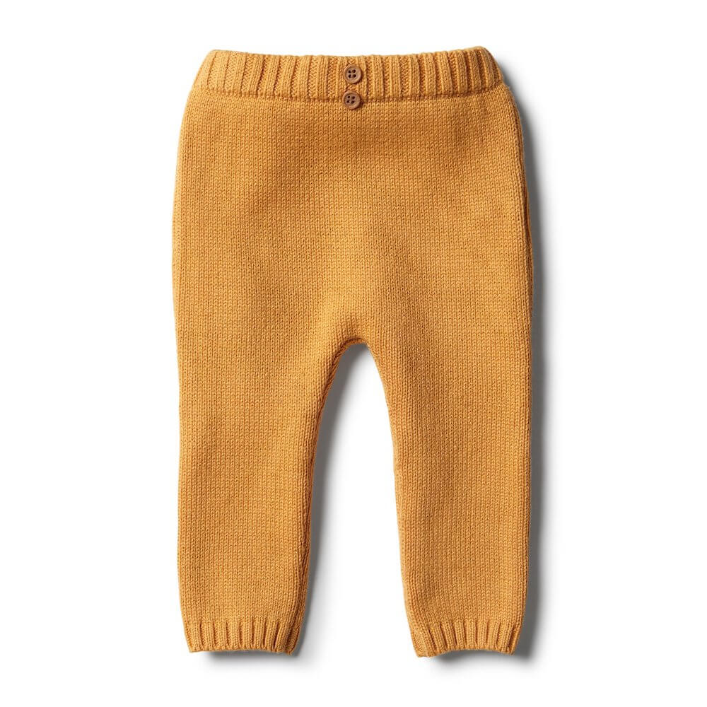 Wilson & Frenchy Golden Apricot Knitted Leggings | Tiny People