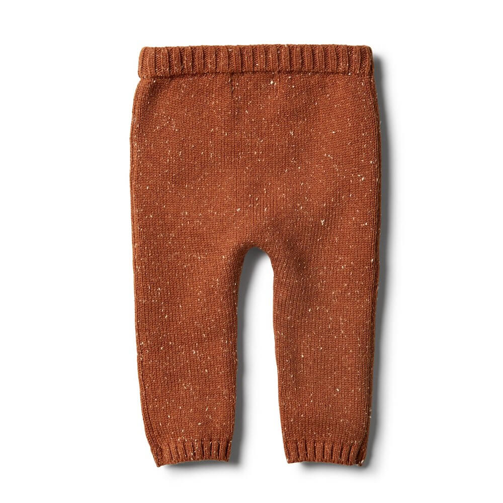 Wilson & Frenchy Toasted Pecan Knitted Leggings | Tiny People