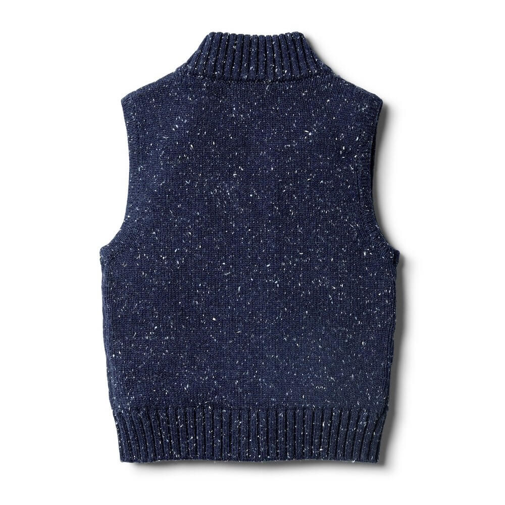 Wilson & Frenchy Twilight Blue Knitted Vest | Tiny People