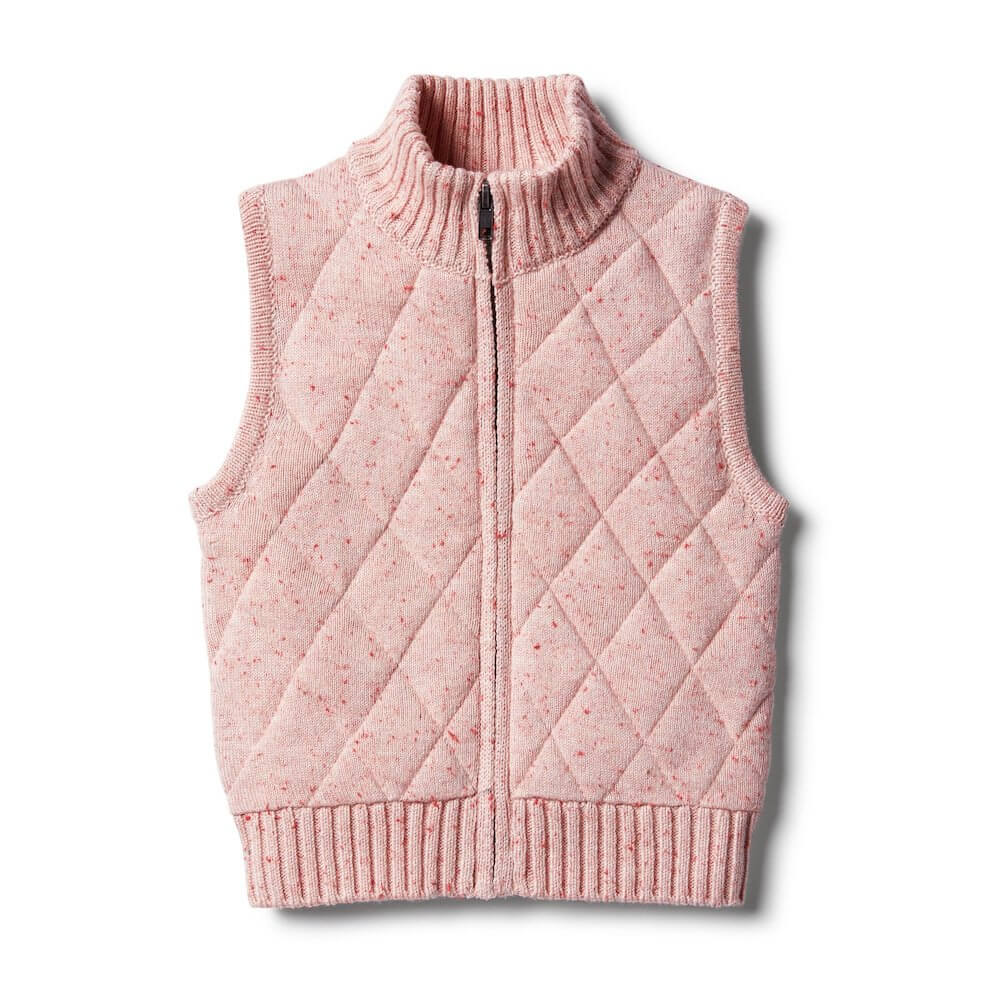 Wilson & Frenchy Chilli Fleck Knitted Vest | Tiny People