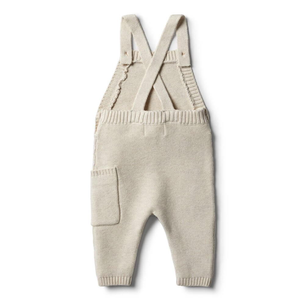 Wilson & Frenchy Oatmeal Knitted Overall | Tiny People