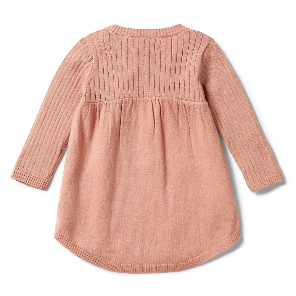 Wilson & Frenchy Knitted Rib Dress Dusk | Tiny People Australia