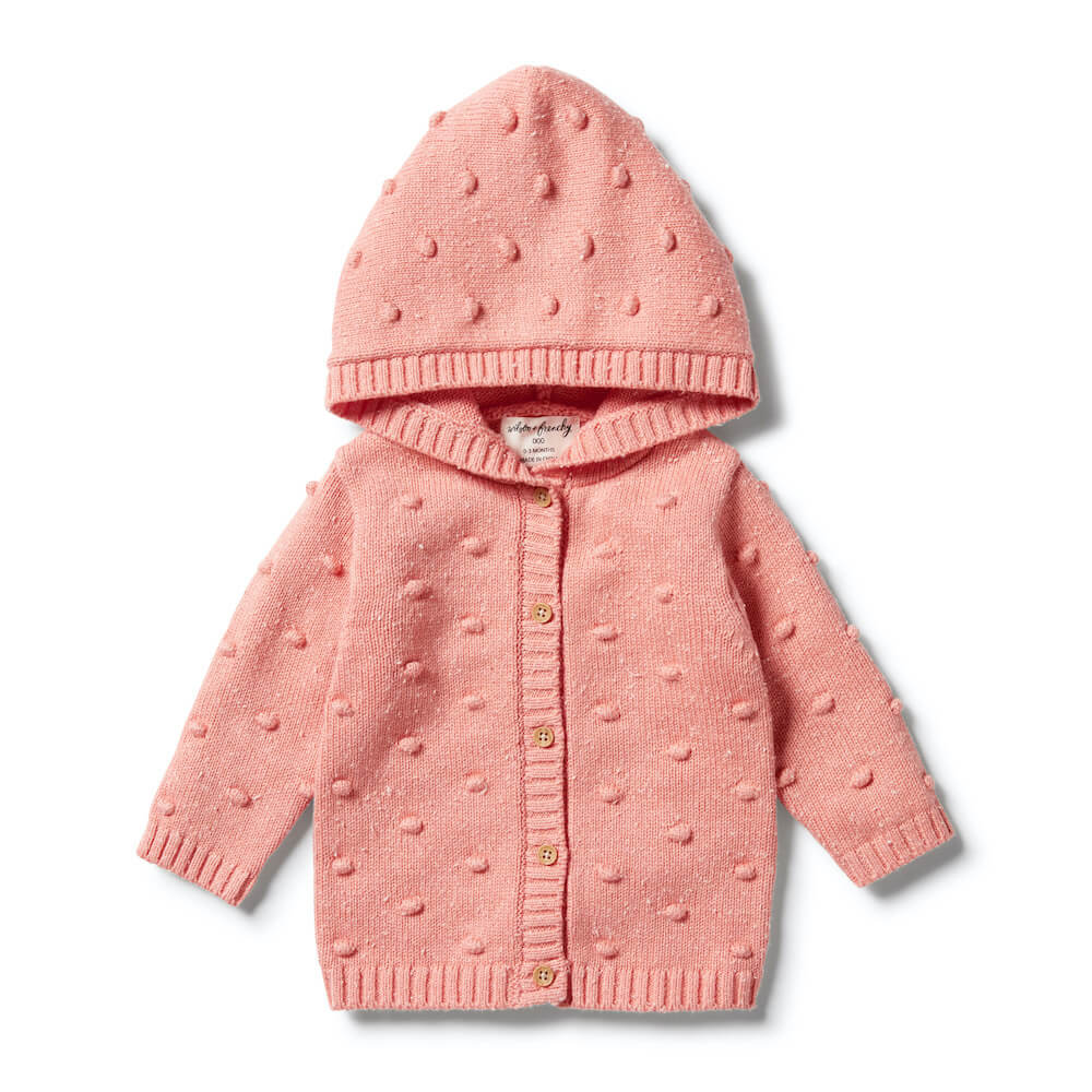 Wilson & Frenchy Knitted Spot Jacquard Jumper Flamingo Fleck | Tiny People Australia