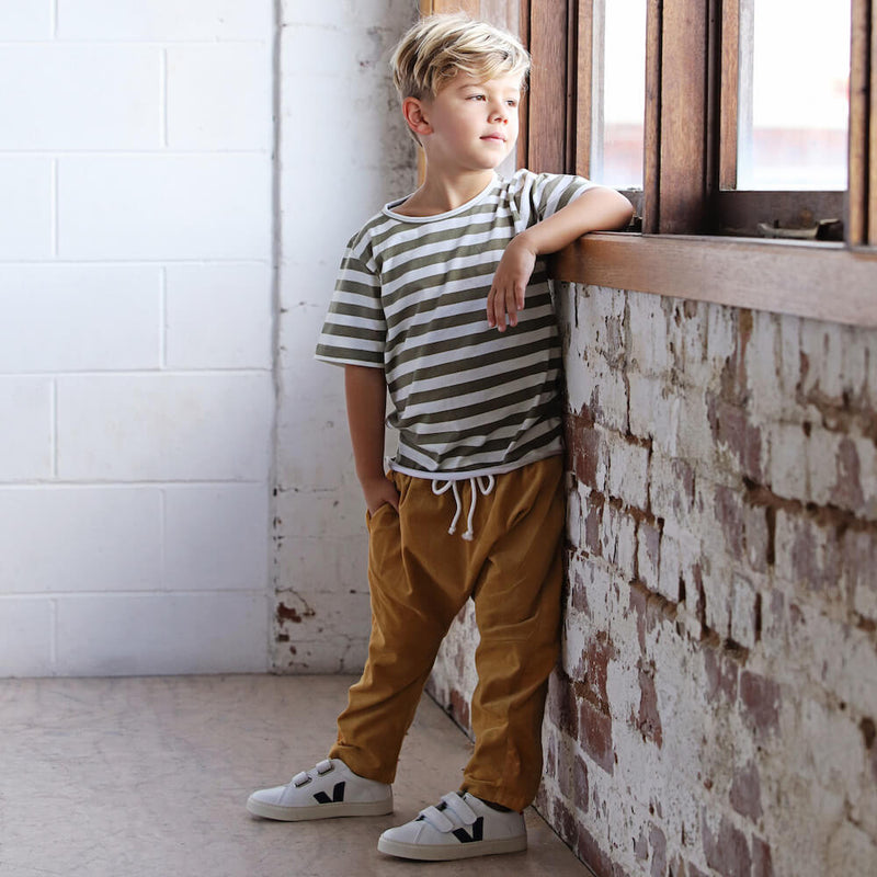 We Roam Light Corduroy Pant Mustard | Tiny People